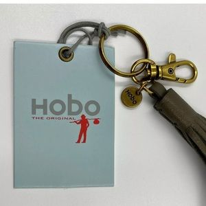 Hobo Leather Tassel with Key Ring and Clip